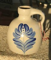 "Small Pottery Crock Jug Signed BBP 5 X 4 1/2"" Nice!"