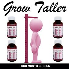 Powerful BE TALLER 4 Month course = 4 Bottles You Can Grow Safely Gain Height GT