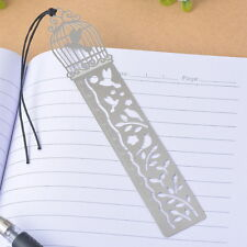 5PCs Bookmarks Birdcage Bird Ruler Wax Rope Hollow Office Supplies Reading Gift