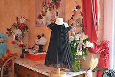 robe repetto neuve noir black 2 ans   PLISSEE  tres chic