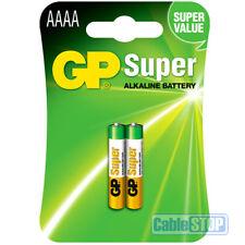 2 x GP AAAA Batteries MX2500, E96, LR61L841, MN2500