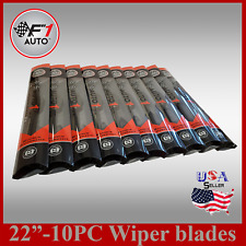 "(CASE of 10 ) 22"" FRONT/REAR PREMIUM JHOOK BRACKETLESS WINDSHIELD WIPER BLADES"