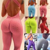 Fashion Women Sport Yoga Gym Rompers Suit Fitness Workout Jumpsuit Bodysuits T99