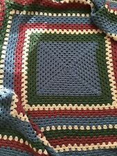 "Hand Crocheted Afghan Blanket Throw 74"" x 74"""