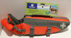 Top Paw Relective Dog Life Jacket Safety Preserver Vest w/Handle - Small
