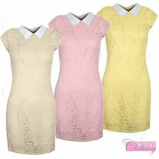 Unbranded Lace Floral Collar Dresses for Women