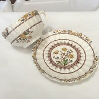 *Vintage Copeland SPODE  Buttercup Tea Cup and Saucer older brown Makers Mark