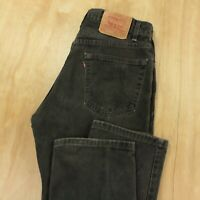 vtg usa made LEVI's 505 fit jeans 34 x 30 tag black faded grunge dad 80s 90s