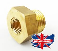 1/4NPT X 14X1.5 Adaptador de enchufe de Latón Colector De Aceite Sensor Medidor De Drenaje De Aceite Temperatura @ UK