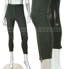 McQ by ALEXANDER MCQUEEN LEGGINGS ZIPPERED PANTS WITH LEATHER PATCHES S / SMALL