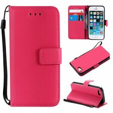 For iPhone 4 5 5S 5C 6 6S 7 8 Plus Magnetic Flip Card Wallet Leather Case Cover