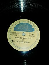 Lord Baden Powell Boy Scouts Cubs Historical 78 rpm Gramophone Phonograph Record