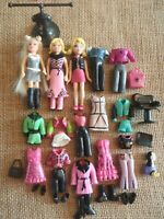 """Polly Pocket Dolls Lot """"Colors of the Rainbow"""" Black Clothes Outfits Pet 6-42"""