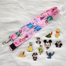 Disney Trading Pins (10) RANDOM Starter Lot w/ Princesses Lanyard Free Shipping