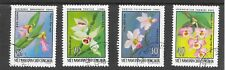 ORCHIDS OF NORTH VIETNAM PART SET 1976;SG N865/66/67/68; VERY FINE USED.