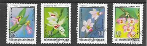ORCHIDS FROM NORTH VIETNAM; PART SET 1976;SG N865/66/67/68; VERY FINE USED.