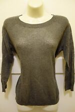 New with Tag Women's Halogen Gray Long Sleeve Thin Knit Top Size S