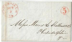 US Stamps 1849 Envelope. Last Name is Halloween. Upperville,Va.
