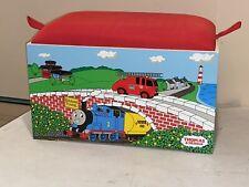 Vintage  2002 Thomas The Train Wood Toy Chest Box Storage Bench Stool