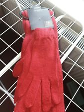 Bn Red Scarf And Glove Set