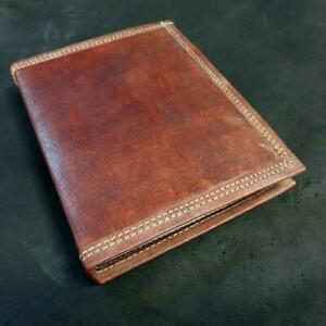 Ares Large Handmade Refillable Lined Leather Travel Journal