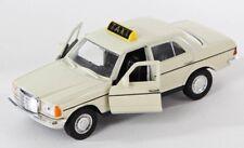 BLITZ VERSAND Mercedes W 123 TAXI  230 E creme Welly Modell Auto 1:34 NEU & OVP