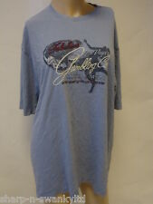 Hombre Azul Las Vegas Bordado 100% Algodón Camiseta Top Talla L