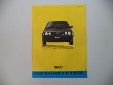 advertising Pubblicità 1984 FIAT RITMO 105 TC
