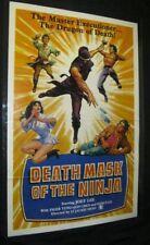 Originl SHAOLIN PRINCE DEATH MASK OF THE NINJA Martial Arts TRI FOLDED Chia Tang