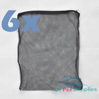 """6 pcs Filter Media Mesh Bags 16"""" x 13"""" Zipper Reusable aquarium fish tank pond"""
