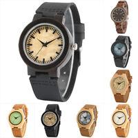 Wood Watches Women Analog Quartz Wooden Watch Bamboo Wirstwatch Bracelet Gift