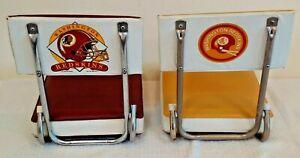 Vintage Pair NFL Football WASHINGTON REDSKINS Stadium Seat 1970s 1993 2 Bar Logo