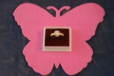 Bonito 14 Kilates Oro Amarillo Anillo Con 2.20 Ct. Un Diamante Talla N 12