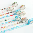 7m*1.5cm Car Fish Retro Washi Paper DIY Masking Adhesive Tapes Decorative Tape