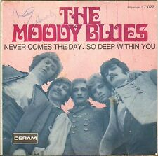 "THE MOODY BLUES ""NEVER COME THE DAY"" POP ROCK SP DERAM 17.027"