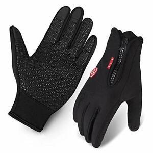 Cycling Gloves, Waterproof Touchscreen in Winter Outdoor Bike Gloves Adjustable