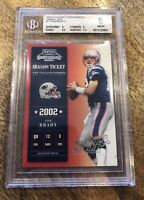 2002 Playoff Contenders Hawaii 2003 # 7 Tom Brady 14/15 Bgs 8; Pop 2; Non Higher