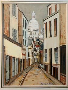 Listed French Artist Maurice Utrillo (1883-1955) Signed Oil On Canvas
