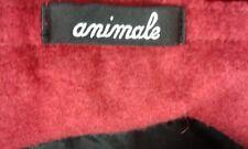 Size M Wool 65% Long Dark Red 33inch Waist Asymmetrical Hem Quirky Skirt ANIMALE