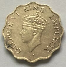1942 George VI King Emperor 1 ANNA Nickel Brass coin India
