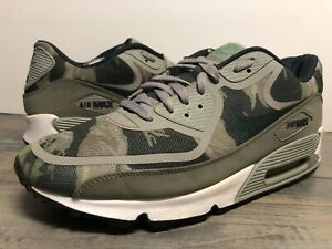 Nike Air Max 90 Premium Tape Camouflage Shoes Size 12 Green Gray 599249-302