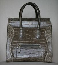 CÉLINE CROCODILE LUGGAGE TOTE BAG