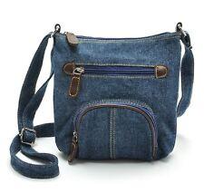 Lässige Umhängetasche | Schultertasche | Handtasche im Jeans bzw. Denim-Style