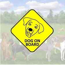 DOG on Board Sticker - car van window bumper face labrador sign warning window