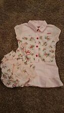 NEW Boutique CHIPIE from France Pink Red Blue Floral Ruffle Dress Size 12 Months