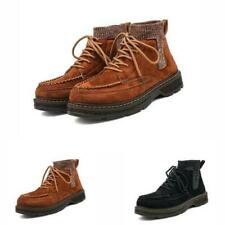 Men Round Toe Walking Outdoor High Top Faux Leather Biker Ankle Boots Shoes 44 L