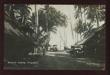 SINGAPORE Tanjong Katong 1920s used RP PPC nice street scene vintage cars