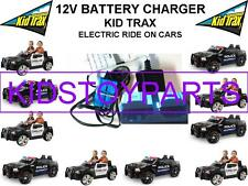 12 Volt Battery Charger KID TRAX DODGE POLICE CAR Ride On Toys w/ Blue Connector