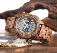 Schöne Digitale Armbanduhr aus Holz