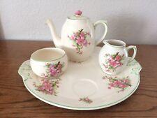 Vintage  AMBASSADOR WARE FONDEVILLE Porcelain Teapot Set  Rose England Pottery